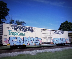 pagan - lunch - rafos - visah (timetomakethepasta) Tags: pagan lunch rafos visah mul ync freight train graffiti art tpix tropicana reefer eka