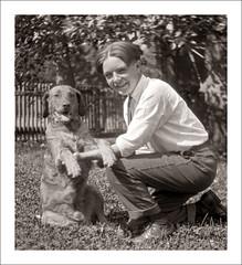 Portraits 111-35 (Steve Given) Tags: familyhistory socialhistory portrait boy teen teenager pet dog