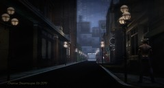 Knight-City-Moonlit-Night-Scene--06-21-19_002_001FX-WR (Chance Dreamscape) Tags: creativesparkcollective knight city moonlit moonlight haze hazy fog night scene street