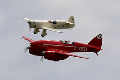 G-ACSS & G-AEXF Old Warden 02/06/19 (Andy Vass Aviation) Tags: oldwarden dh88 comet gacss grosvenorhouse gaexf mewgull