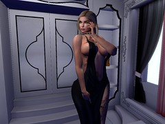 Irresistible (rebbecagrimmer847) Tags: irresistible justagirl black dress secondlife sensual becca