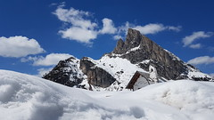 Suogo de Fouzargo/Ju de Falzares/Passo di Falzarego (Eternally Forgotten) Tags: veneto italy italia italien italian province region belun venetien falzares falzarego fouzargo mountains alps dolomites snow snowy frosty cold peak crest rocky church charming beautiful stunning mesmerizing land landscape nature environment icy loneliness silence calm peace serenity tranquillity journey travel tourism trip discovery voyage adventure exploring hiking wandering magic spell enchanting memories recollections lovely dreams melancholy yearning nostalgia reminiscence sky skies majestic wanderlust fairytale wishes hope