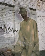 DJ in the alley (ADMurr) Tags: la hollywood alley mural mamiya 7 kodak portra 6x7 dba214
