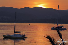 Sunset over St. Tropez bay (chk.photo) Tags: ocean landschaft nature naturewatcher outdoor landscape water natur naturemasterclass light ngc sailboat schiff yacht backlight sailor frankreich france spiegelung boot sunset segelboot flickrtravellaward flickr meer
