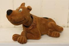 Flocked Scooby Doo Bobble Head (Donald Deveau) Tags: tvshow cartoon hannabarbera scoobydoo bobblehead nodder flocked toys vintagetoy