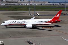 Shanghai Airlines | Boeing 787-9 | B-208X | Tokyo Haneda (Dennis HKG) Tags: aircraft airplane airport plane planespotting skyteam canon 7d 24105 tokyo haneda rjtt hnd shanghaiairlines csh fm boeing 787 7879 boeing787 boeing7879 dreamliner b208x