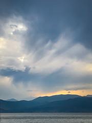 Grecian Sky (judy dean) Tags: judydean 2019 greece hills sea sky clouds light iphone