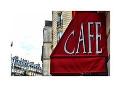 Café crème merci (CJS*64) Tags: cjs64 craigsunter cjs colour colours paris france city travel travelling europe european cafe red nikon d7000 nikkor nikond7000