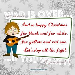 War is over - Navidad 2018 (isabeliborra) Tags: xmas card tarjeta navidad johnlennon dibujo