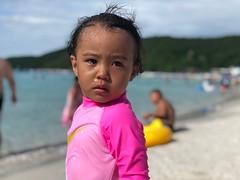 my cousin's friend's daughter (ChalidaTour) Tags: thailland thai asia asian girl child kid cute beach swimwear swimming wet hair pink