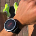 """Garmin Smartwatch on a men's arm shows text """"Now"""" to supports athletes with fitness and endurance sports and helps to meet training goals"""