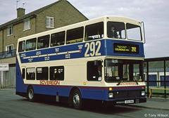 S54VNM Sovereign London 54 (theroumynante) Tags: s54vnm sovereign london 54 volvo olympian northern counties palatine borehamwood bus buses road transport stepentrance route292 292 doubledeck regional lrt branding