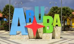 Aruba - One happy island (© Freddie) Tags: aruba oranjestad sign signage fjroll ©freddie
