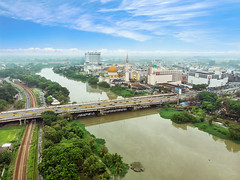 T h e   R o y a l   T o w n (eric-ng) Tags: bridge home river landscape town photo cityscape top malaysia kota klang selangor drone dronephotography aerial city shootfromtop
