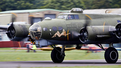 B-17 Flying Fortress (Bernie Condon) Tags: boeing b17 flyingfortress usaaf bomber ww2 vintage preserved warplane military sallyb dunsfold wingswheels airshow surrey uk aviation aircraft flying display