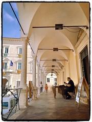La Loggia (simona300) Tags: loggiato fermo marche italy città cityscape persone light landescape architettura travelphotography traveldestination archi explore