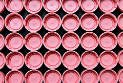 Pink Plastic Bottle Caps (nagyistvan8) Tags: nagyistván túrkeve magyarország magyar hungary nagyistvan8 tárgy object színek colors rózsaszín fekete pink black pattern háttérkép background extreme ötlet idea különleges special alak alakzat formation minimal minta sample model részlet detail form forma szerkezet struktúra structure műanyag plastic palackzár bottlecap mosoly smile smileonsaturday thinkpink 2019 nikon
