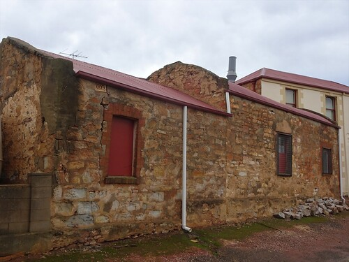 Kapunda. Stables and sheds behind the Prince of Wales Hotel. The hotel was established in 1858.