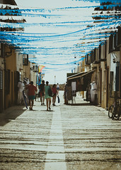summertime (*BegoñaCL) Tags: tabarca alicante spain summer summertime street people shadow perspective begoñacl