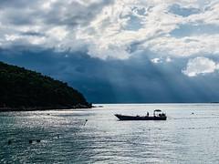 fishermen boat (ChalidaTour) Tags: thailand thai asia asian beautiful sea water boat fishermen fisher net sunset sundown sky clouds peaceful nature happyplanet asiafavorites