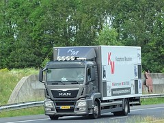 MAN TGS rigid from Koopmans Meubelen Holland. (capelleaandenijssel) Tags: 74bgn2 sil geldermalsen netherlands truck trailer lorry camion lkw furniture