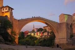 Stari Most (sfryers) Tags: starimost oldbridge oldtown historic reconstructed ottoman stone arch bridge islamic architecture river neretva mountains valley bosnia herzegovina bosnaihercegovina smc pentaxfa 35mm 12