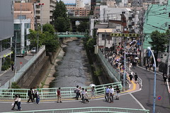 A Street Corner in Tokyo (seiji2012) Tags: japan tokyo takatanobaba kandariver shoppingstreet 神田川 高田馬場 橋 bridge
