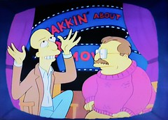 Yakkin' About the Movies - 1991 The Simpsons 2079 (Brechtbug) Tags: yakkin about movies episode 25 the way we was jan 31st 1991 a simpsons parody television film review show siskel ebert at with two reviewers caricatures gene roger cartoon fox 5 screengrab screen grab 01311991