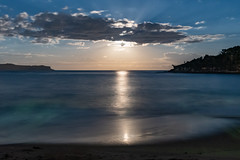 Moonlight Seascape (Merrillie) Tags: night moonlight milkyway starry astrophotography australia nighttime newsouthwales pearlbeach astrology starlight beach galacticcore centralcoast coastal northpearlbeach nightsky seascape nightscape starlit galaxy stars