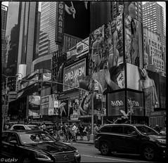 Kiev60 NYC (Uta_kv) Tags: 6x6 kiev60 tmax400 mediumformat zodiak8b fisheyelens nyc timesquare filmphotography group6x6 mediumformatslr sovietcamera film bnw blackandwhitephotorgraphy streetphtography