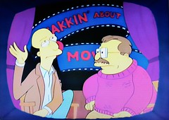 Yakkin' About the Movies - 1991 The Simpsons 2081 (Brechtbug) Tags: yakkin about movies episode 25 the way we was jan 31st 1991 a simpsons parody television film review show siskel ebert at with two reviewers caricatures gene roger cartoon fox 5 screengrab screen grab 01311991