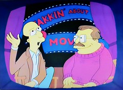 Yakkin' About the Movies - 1991 The Simpsons 2078 (Brechtbug) Tags: yakkin about movies episode 25 the way we was jan 31st 1991 a simpsons parody television film review show siskel ebert at with two reviewers caricatures gene roger cartoon fox 5 screengrab screen grab 01311991
