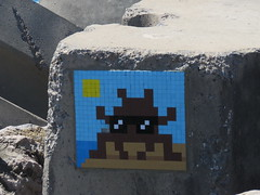Space Invader RBA_01 (tofz4u) Tags: maroc morocco almagrib rabat rba01 streetart artderue invader spaceinvader spaceinvaders mosaïque mosaic tile brun brown blue bleu