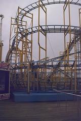 Brighton Palace Pier (andy broomfield) Tags: film filmisnotdead filmphotography 35mm dubblefilm colourfilm c41 dubblefilmapollo brighton brightonhove pier brightonpier brightonpalacepier ride fairgroundride funfairride rollercoaster