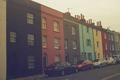 Queens Park Houses (andy broomfield) Tags: film filmisnotdead filmphotography 35mm dubblefilm colourfilm c41 dubblefilmapollo brighton brightonhove paintedhouses