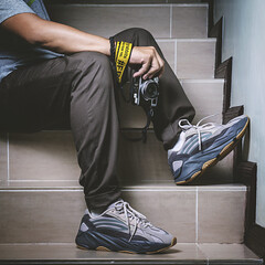 Adidas Yeezy 700 Tephra. (Andy @ Pang Ket Vui ( shootx2 )) Tags: yeezy sneakers 700 tephra chuncky dad daddy shoes fashion hype beast adidas kanye west kicks sneaker photography d800 2470 flash bulky fujifilm x100f fr2 fxxking rabbits camera strap classic retro