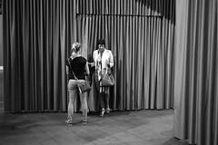 Revolving curtain wall (titan3025) Tags: leica leicam6 ilford hp5 blackandwhite monochrome filmisnotdead grainisgood art basel 2019 artbasel