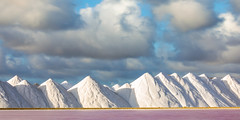 Salt Mountains (Elizabeth Bennett and Gérard Cachon) Tags: bonaire caribbean netherlandsantilles landscape cargill salt mountain roadsalt pink brine flats evaporation manufacturing production mounds peaks