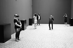 VR installation (titan3025) Tags: leica leicam6 ilford hp5 blackandwhite monochrome filmisnotdead grainisgood art basel 2019 artbasel