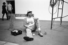 Lunchbreak - Duane Hanson, 1989 (titan3025) Tags: leica leicam6 ilford hp5 blackandwhite monochrome filmisnotdead grainisgood art basel 2019 artbasel