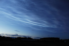 Noctilucent clouds over Angus (Mick Walton) Tags: noctilucentclouds sky dusk redford weather scotland space carmyllie clouds cloud night nlc angus arbroath astrophotography astronomy monikie country park reflection
