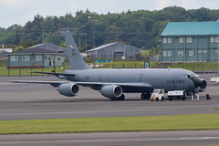 58-0047 KC-135T USAF Prestwick 16.06.19 (Robert Banks 1) Tags: 580047 80047 boeing k35r kc135t kc135 usaf united states air force prestwick egpk pik 22 arw 931 refuelling wing amc mobility command mcconnell