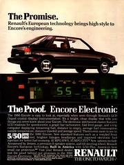 1986 Renault Encore 3 Door Hatchback USA Original Magazine Advertisement (Darren Marlow) Tags: 1 6 8 9 19 86 1986 r renault e encore h hatchback c car cool collectible collectors classic a automobile v vehicle f french france european europe 80s
