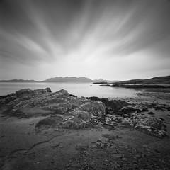 Kilmory Bay (Mark Rowell) Tags: isleofrum kilmorybay skye highlands scotland hasselblad 903 swc fuji acros bigstopper longexposure blackandwhite bw 120 6x6 mediumformat film