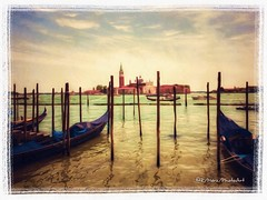The Lagoon (ImproVisions) Tags: photoart sea boats lagoon becasso snapseed texture iphoneography iphone venice