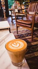Latte Art at the Read Shop Coffee Shop (JavaJoba) Tags: lightroom phone lg g5 coffeeart coffee latteart cafe
