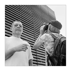 Good Friends (Thomas Listl) Tags: thomaslistl blackandwhite biancoenegro noiretblanc monochrome analog film filmphotography kodak kodaktrix trix yashica yashicamat124g mediumformatfilm mediumformat 6x6 square portrait af arminfuchs av sekonic sekonicl308
