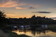 Arundel Sunset - Sussex (E_W_Photo) Tags: arundel castle riverarun sussex england uk boat sunset reflection canon 80d sigma 1750mm leefilters