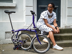 (grobs gfx) Tags: london bicycle bicycling cycling book bikes booklaunch brompton 2019 cyclechic cycleculture cyclestyle vélocitygirl ladyvélo joolswalker representationmatters backintheframe columbiaroad tattydevine