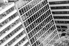 City in Black & White (Karen_Chappell) Tags: city urban travel toronto ontario downtown architecture building buildings angle tile bw blackandwhite windows reflections glass steel metal concrete canada canonef24105mmf4lisusm